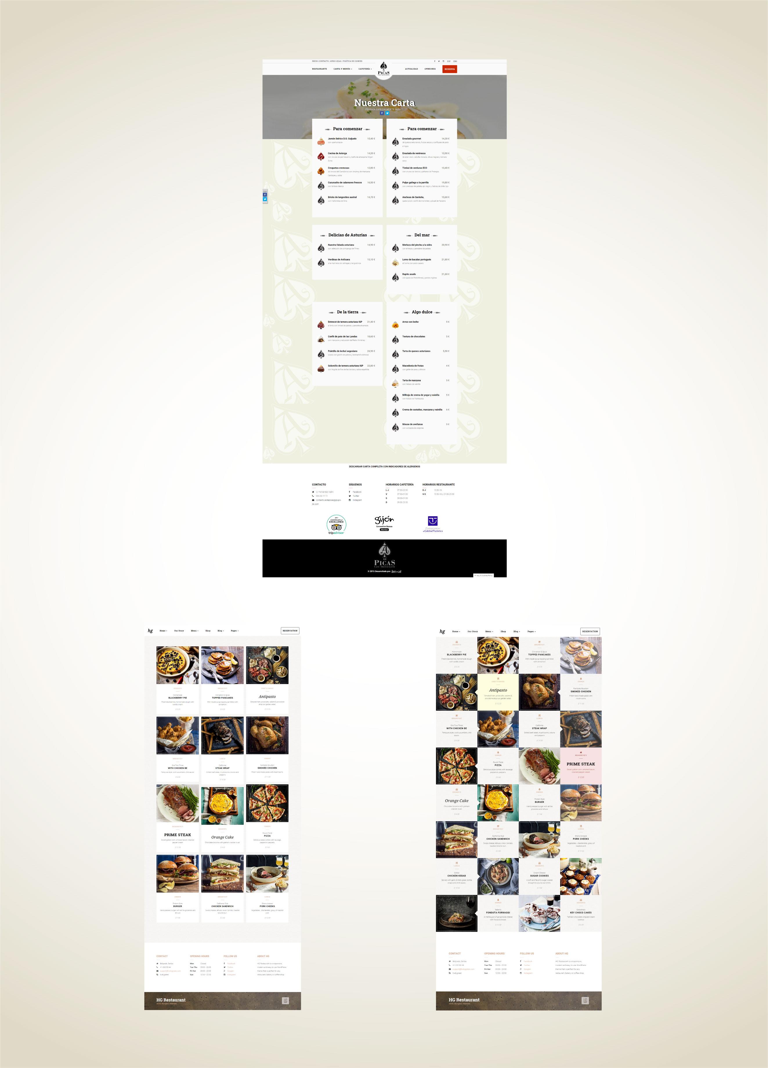 Proyecto Web As de Picas Restaurante